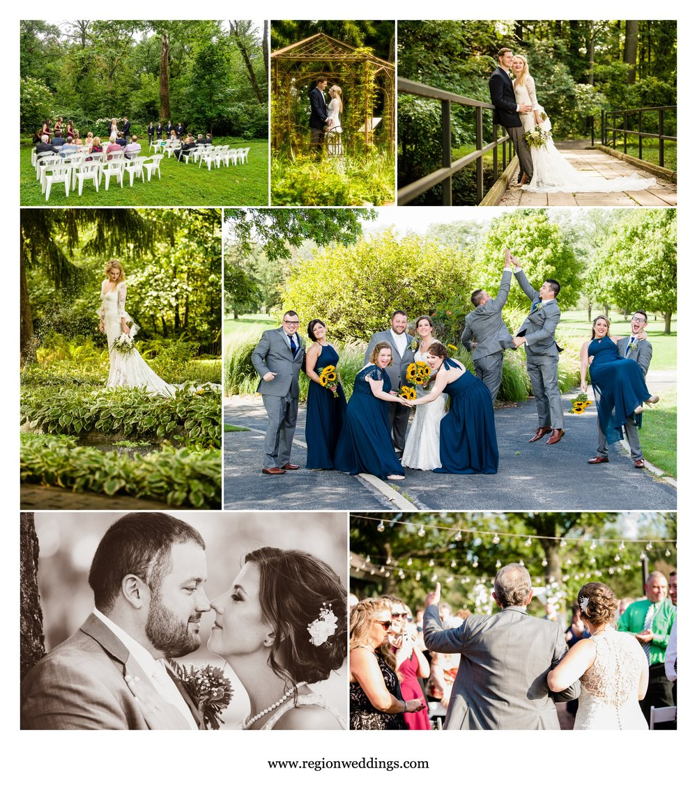 Outdoor weddings at Friendship Garden and Briar Ridge Country Club.