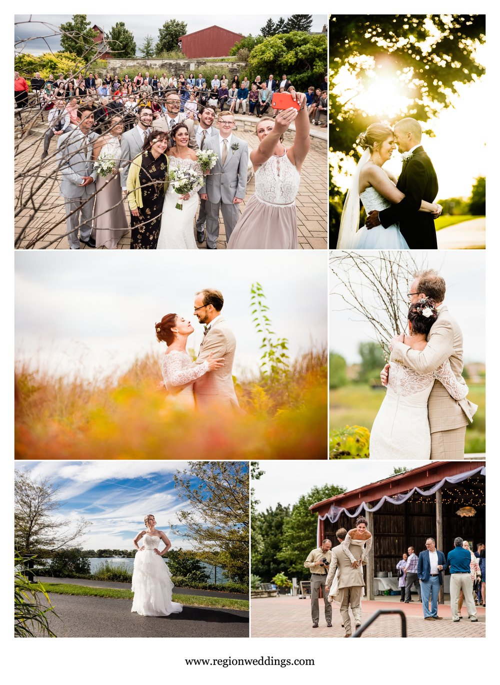 September weddings in Illinois and Indiana.