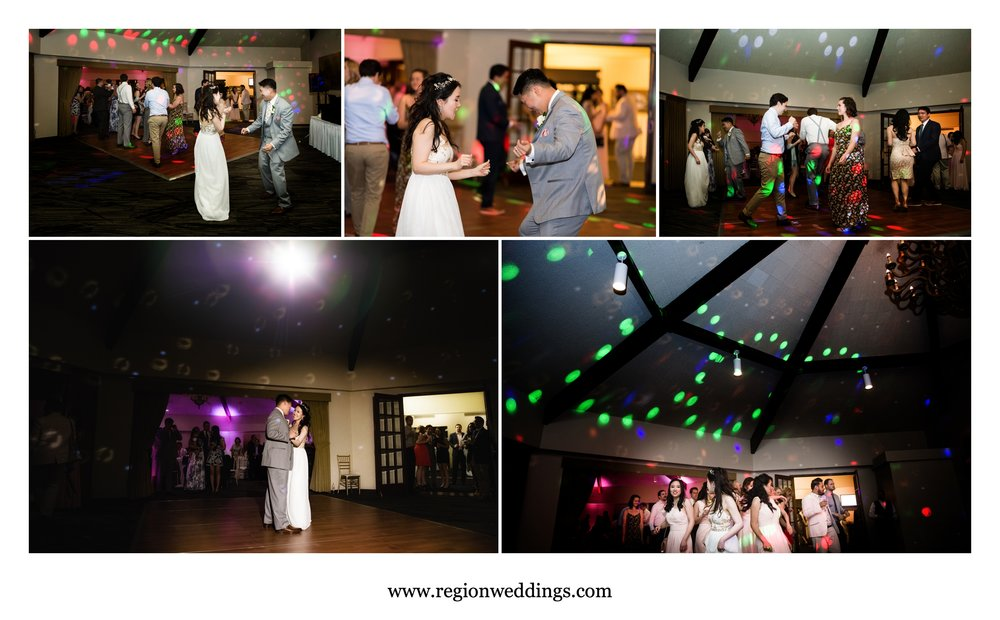 Wedding reception fun at Briar Ridge Country Club.