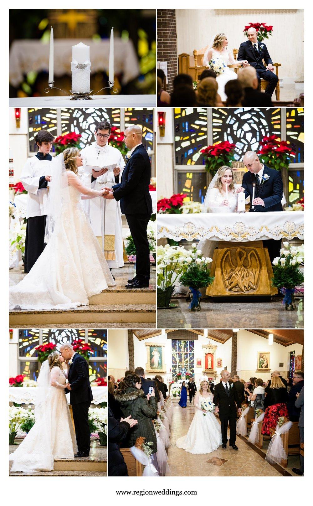Wedding ceremony at Carmelite Fathers.
