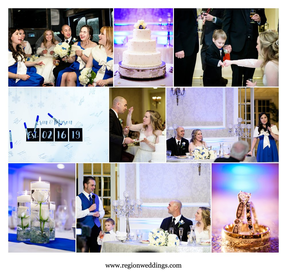 Wedding reception at Chateau Bu-Sché in Alsip, Illinois.