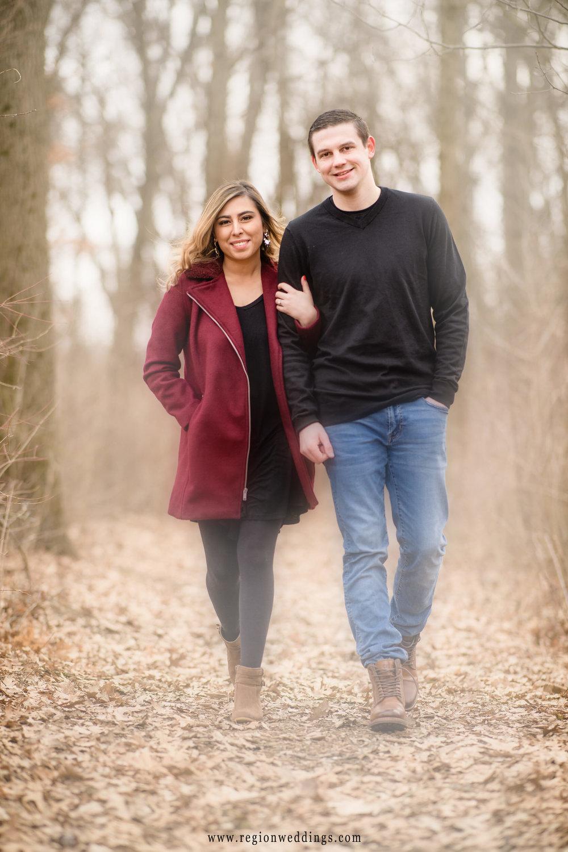 A romantic stroll through the woods of Gabis Arboretum.