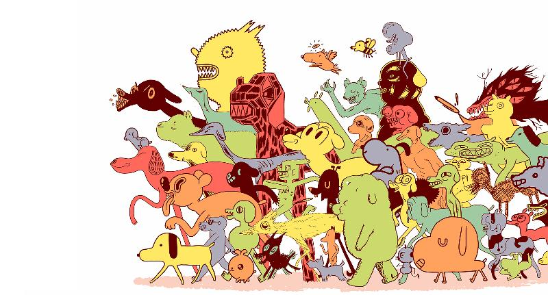follow these guys! Art by Michael DeForge