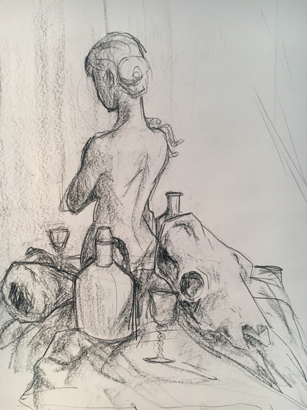Drawing I: 30 Minute Still Life