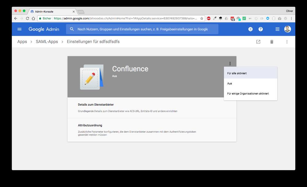 SAML-App-Konfiguration