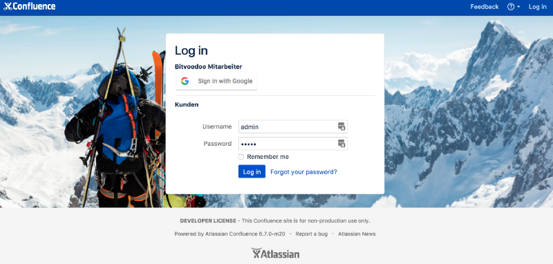 Login-screen-bitvoodoo-confluence