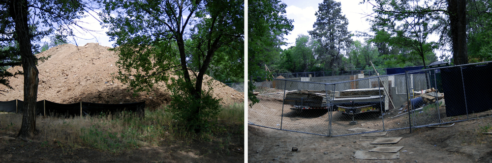 George Löf house site, July 2013