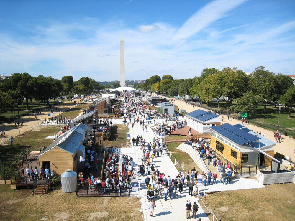 The 2009 Solar Decathlon on the National Mall in Washington. Public domain.
