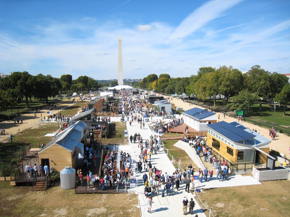 The 2009 Solar Decathlon on the National Mall in Washington. Public domain.