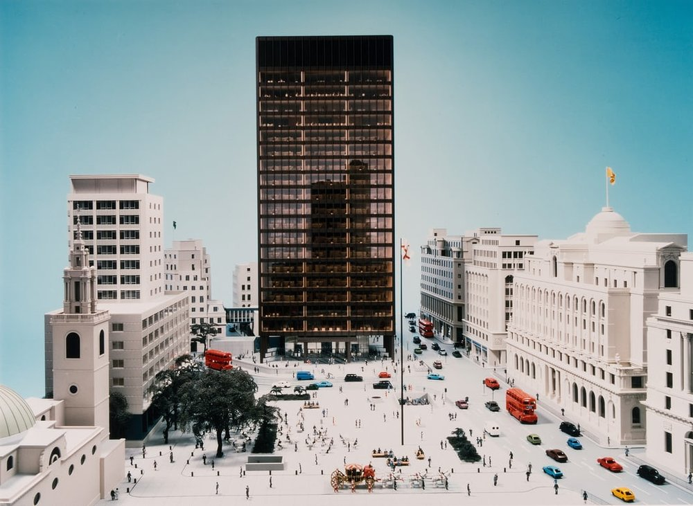 Mies van der Rohe's design for Mansion House Square.  Image from The Guardian.