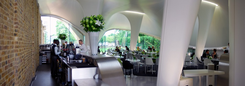 Magazine Restaurant, London, by Zaha Hadid Architects. Photo © Anthony Denzer