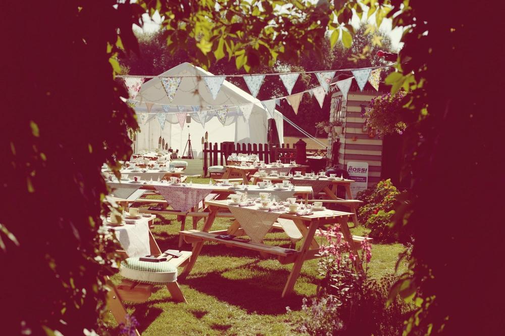 Our garden party reception