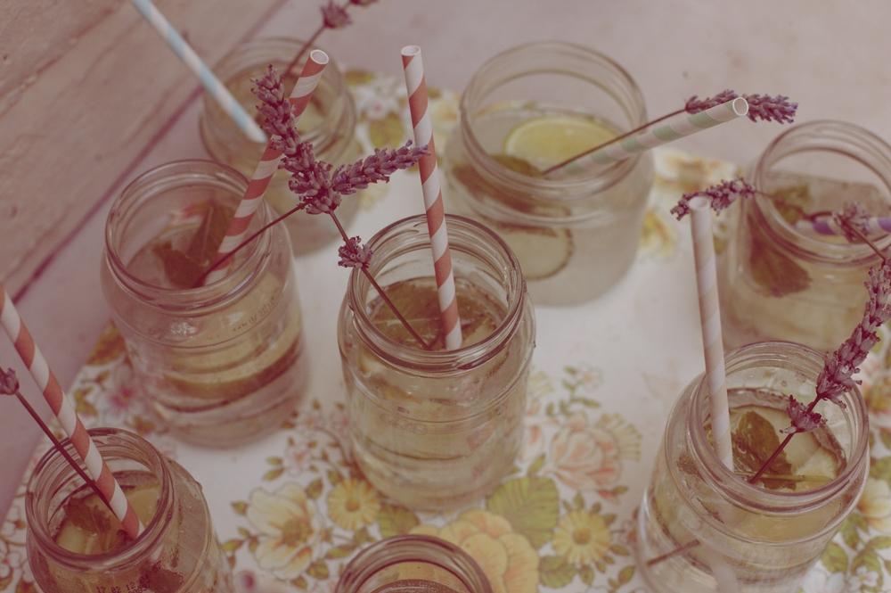 Unique homemade cocktails in jam jars