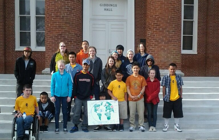 Youth at KBF Mission Weekend, Georgetown College, Georgetown, KY, April 12-14, 2013.