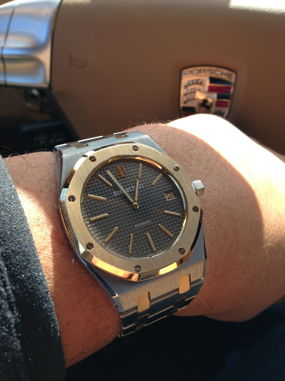 A Royal Oak Jumbo 5402SA inside the Cayman S.