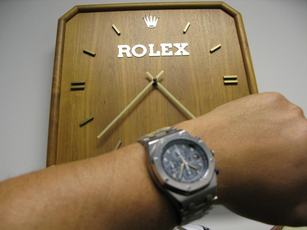 Watch Goodies The Wooden Rolex Clock Hard to Find WATCH