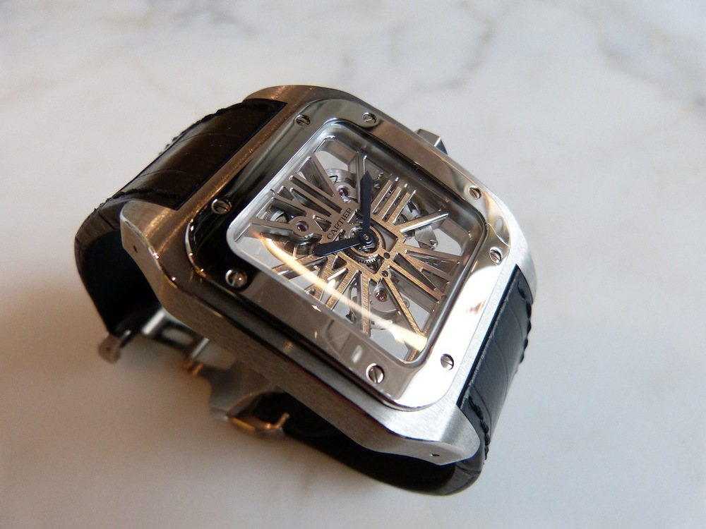 Cartier Santos 100 Skeleton in Palladium