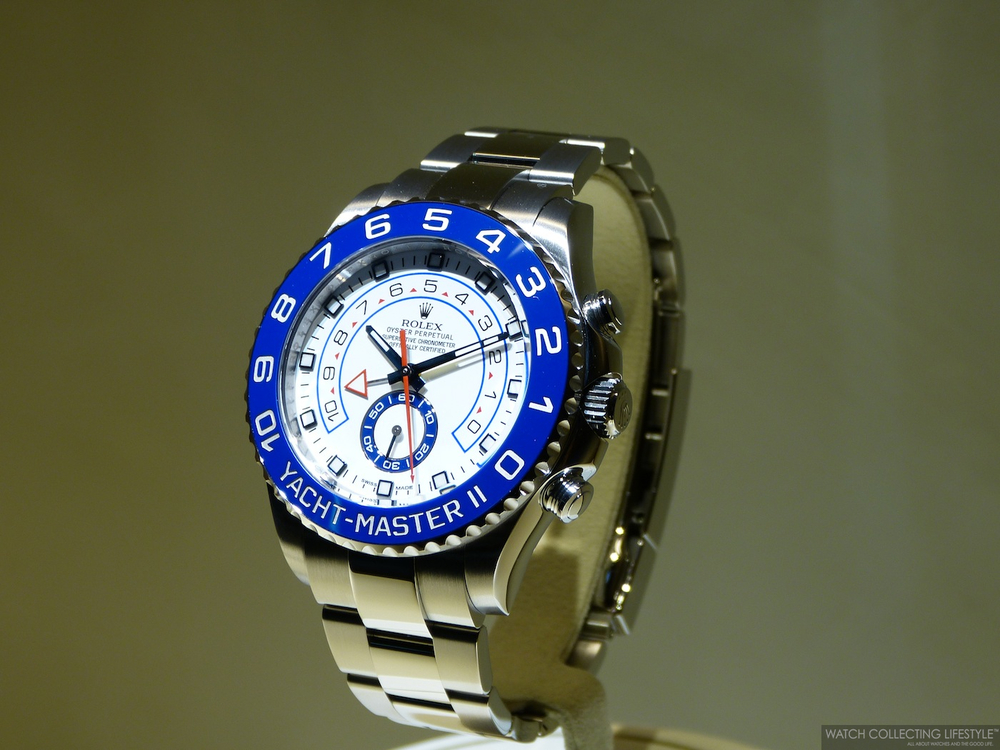 Baselworld Rolex Yacht Master Ii In Stainless Steel The