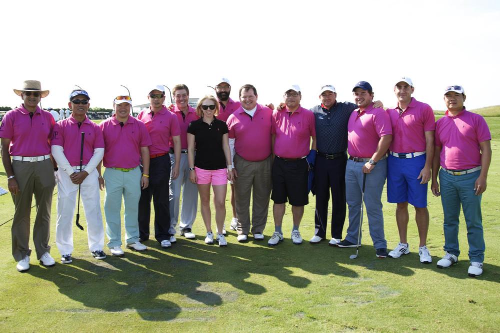Audemars Piguet Golf Invitational 2013 Winning Team.