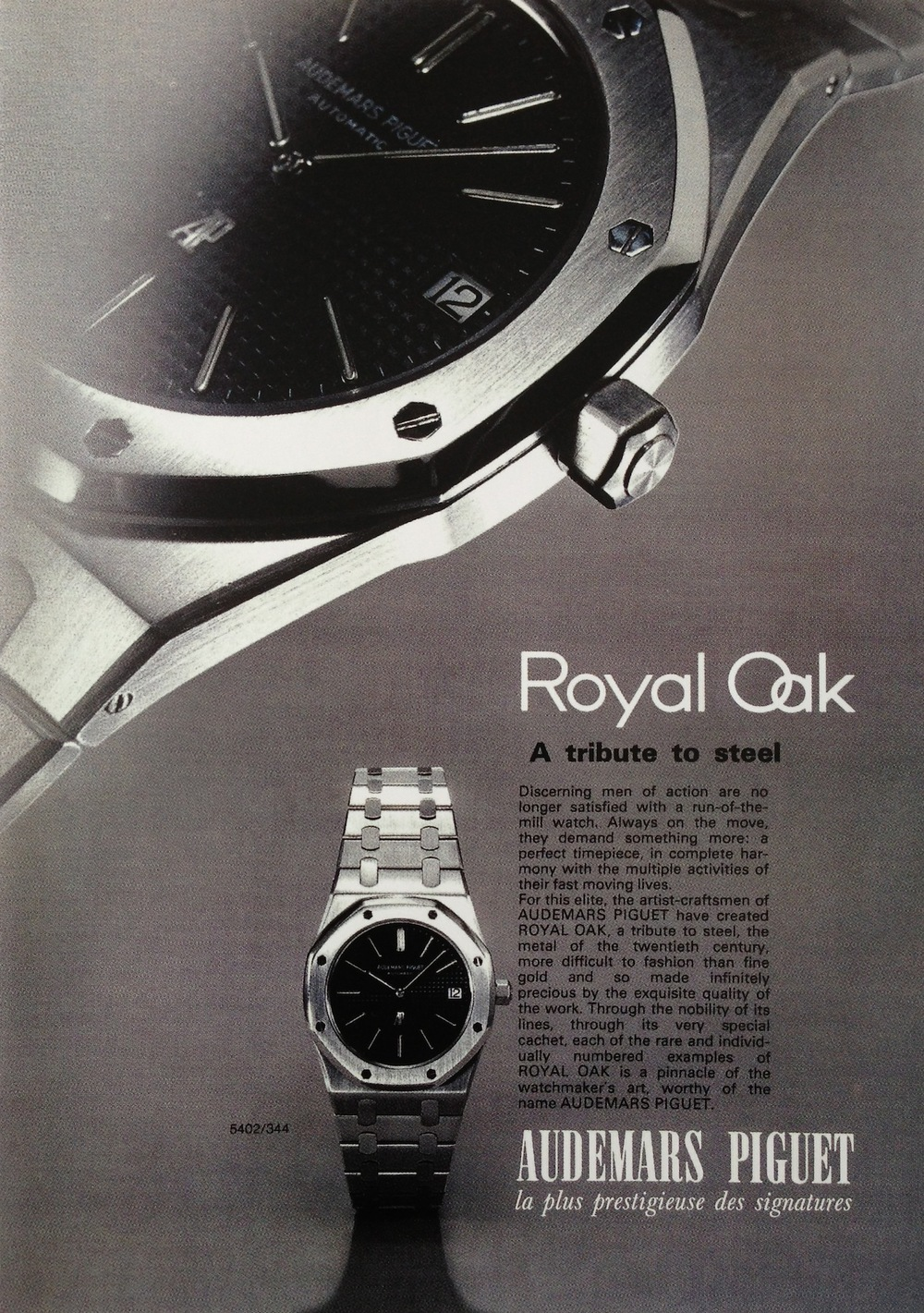 First Audemars Piguet Royal Oak Advertisement.