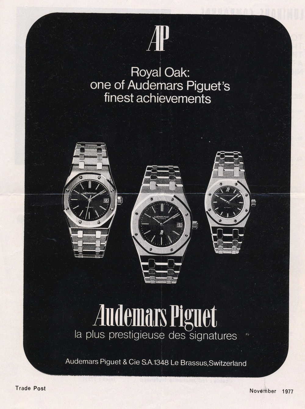 Royal Oak Advertisement circa 1977.