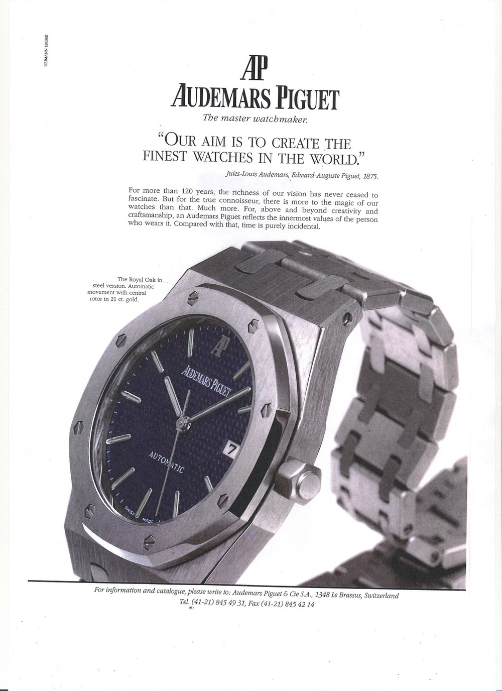 Royal Oak Advertisement circa 1998.