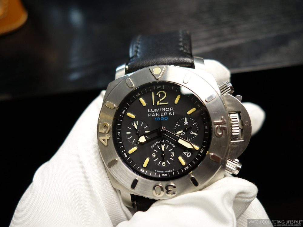 Panerai Luminor Submersible Chrono 1000 Meters. Only 1,000 pieces ever made under ref. PAM00187