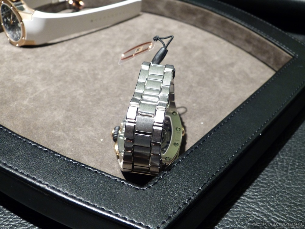 New Richard Mille integrated bracelet in White Gold.