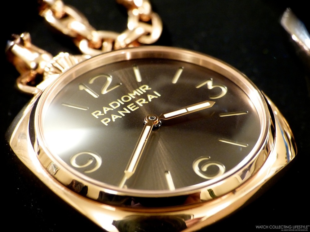 sihh 2014 panerai presents the pocket watch 3 days in red gold the absolute purity of panerai s design achieves an unprecedented and exclusive expression in the new gold pocket watches two extremely elegant special