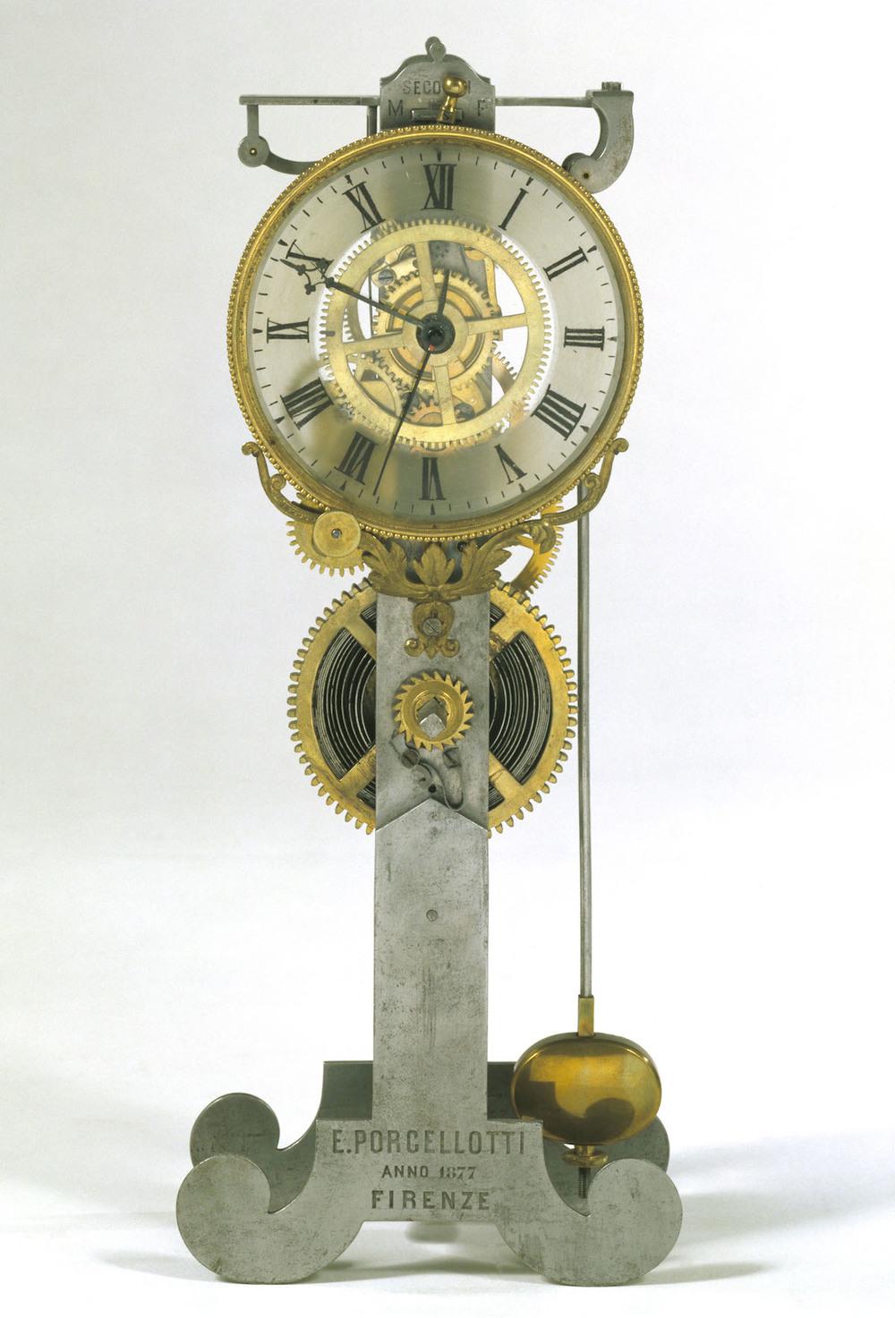 Clock by Eustachio Porcellotti circa 1887.