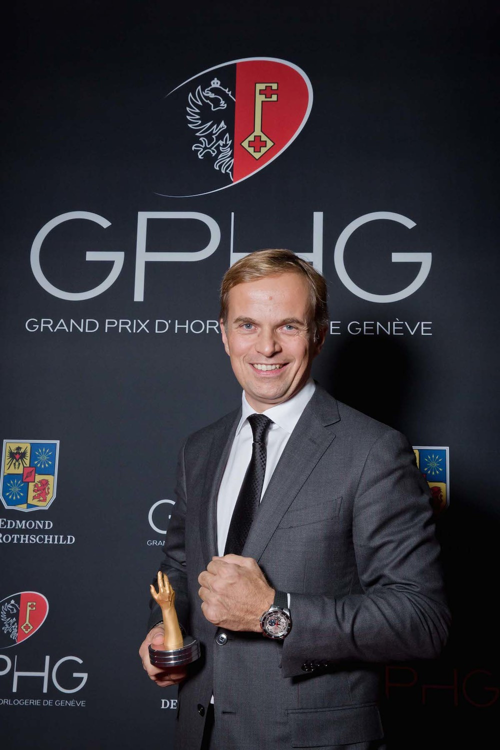 Photo: Jean-Frédéric Dufour at the Grand Prix d'Horlogerie de Genève 2013. ©GPHG.org