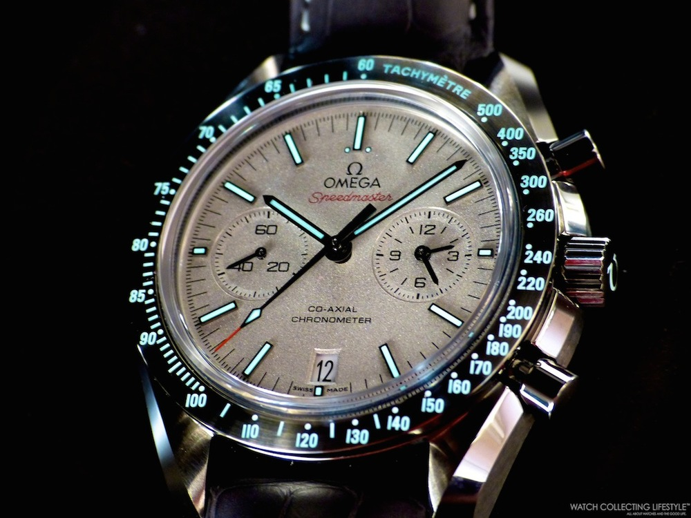 Insider Omega Co Axial Chronograph Speedmaster Grey Side Of The Moon Featuring The Most