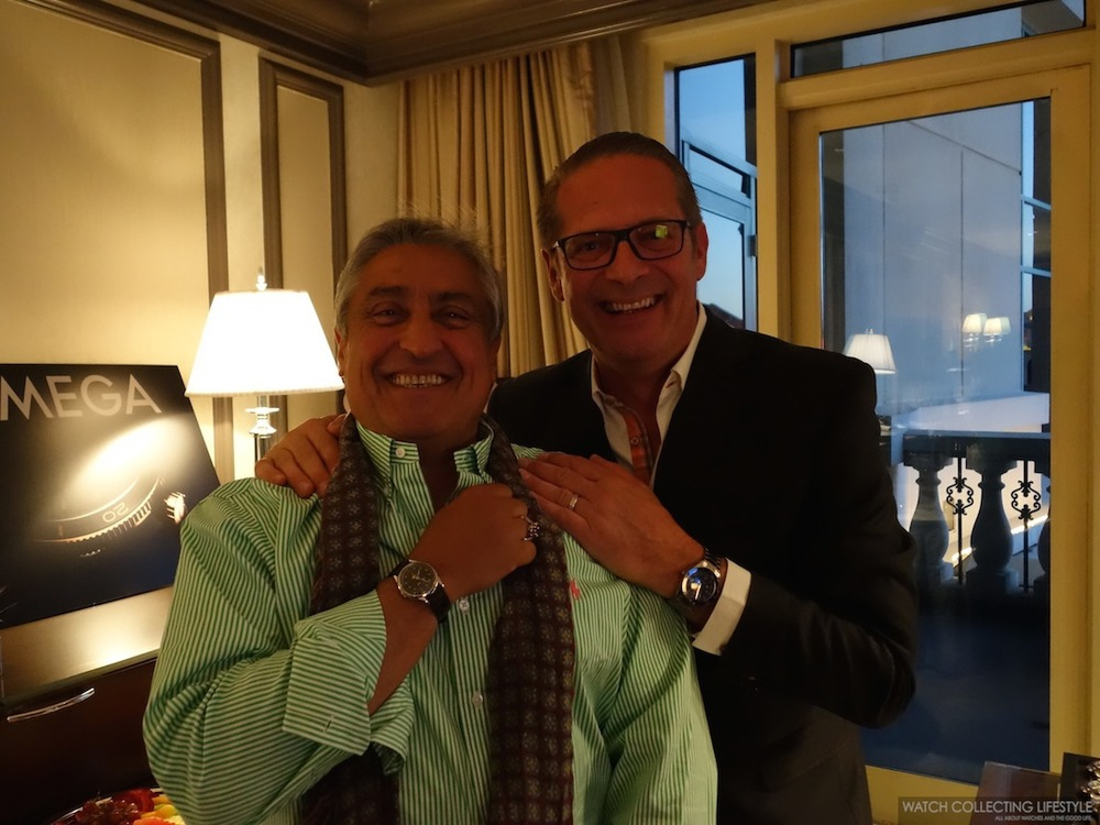 Omega's Jean-Claude Monachon with a renowned Omega collector.