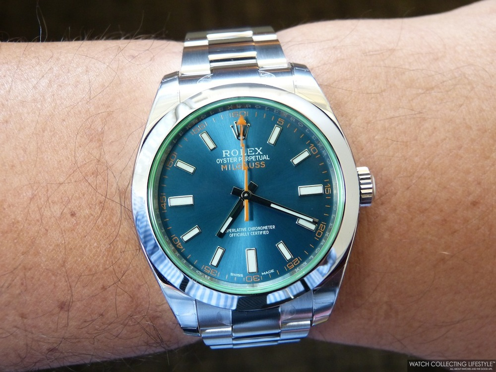 Insider rolex milgauss z blue ref 116400gv pictures under natural light are worth a thousand for Rolex milgauss