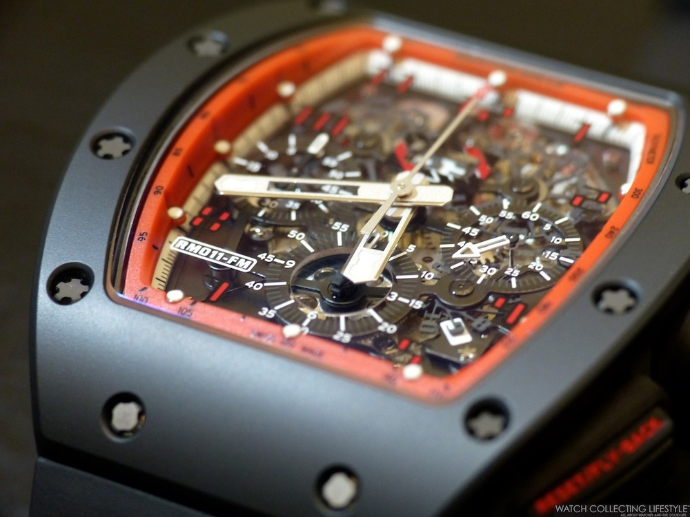 2b9ee16c3d2 The Richard Mille RM 011 Felipe Massa Flyback Chronograph  Midnight Fire   is an emblematic model by Richard Mille