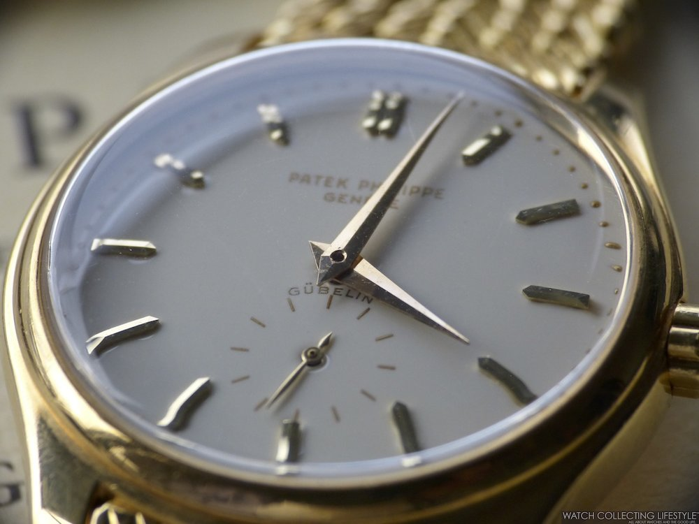 31a07883641 Rare Bird  Patek Philippe Calatrava ref. 2526 for Gübelin. The First  Automatic Reference from Patek with a Price Tag of  632 USD Back in 1955.