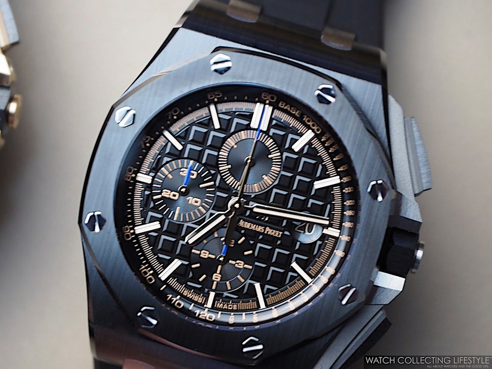 Sihh 2017 new audemars piguet royal oak offshore 44 mm ref 26400io ref 26405ce and ref for Royal oak offshore ceramic