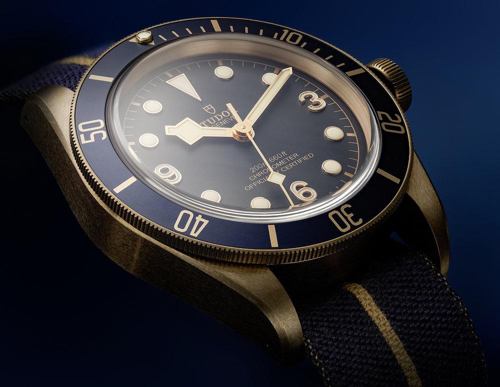 f4b31bfe61d Breaking News  Retailer Bucherer Unveils the Tudor Heritage Black Bay  Bronze Blue. A Perfect