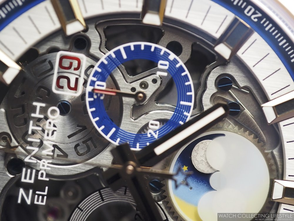 Zenith El Primero Chronomaster Grande Date Full Open 45 Dial