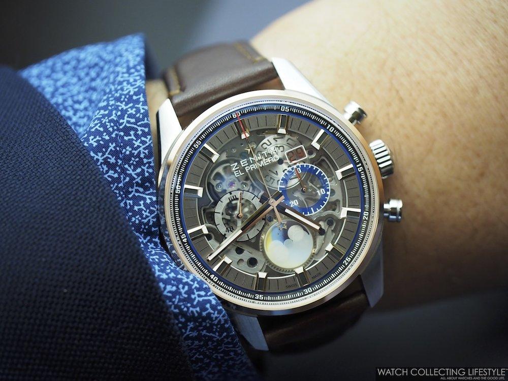Zenith El Primero Chronomaster Grande Date Full Open Wristshot