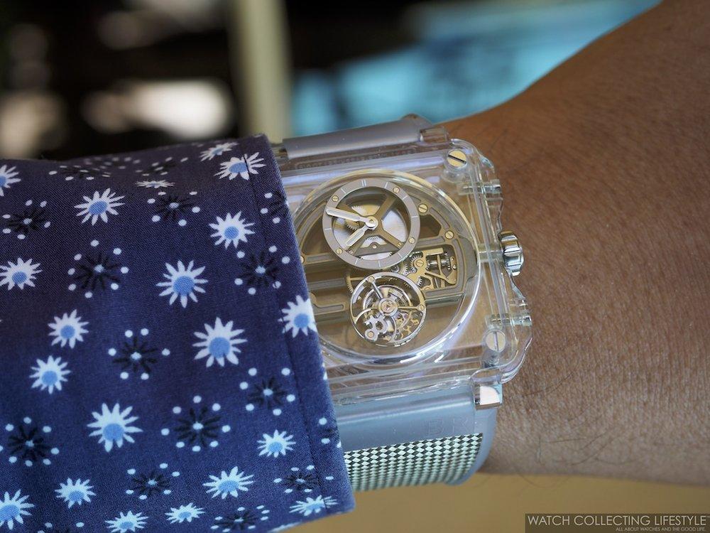 Bell & Ross BR-X1 Sapphire Tourbillon Wristshot