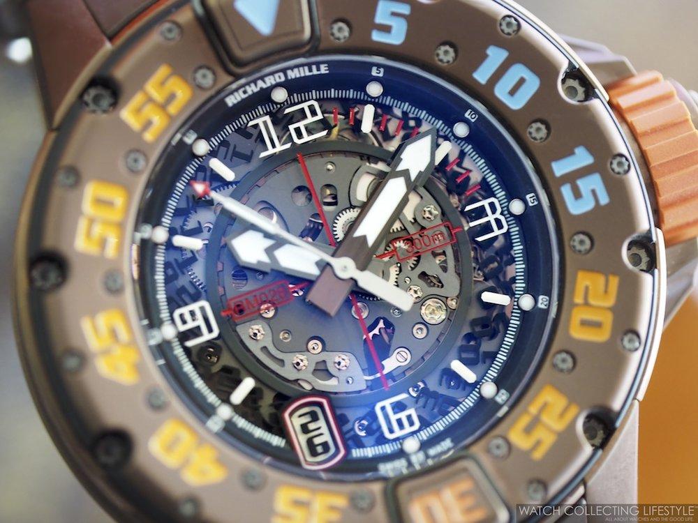 Richard Mille RM028 Brown PVD Titanium Bezel