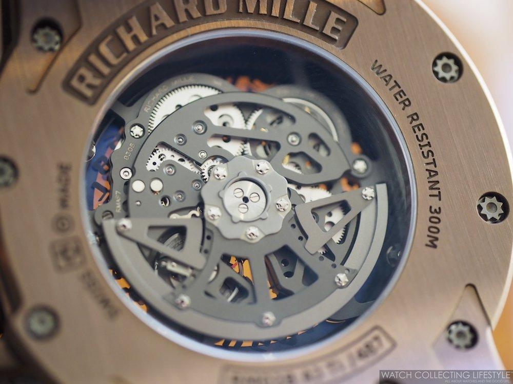 Richard Mille RM 028 Brown PVD Titanium Case Back