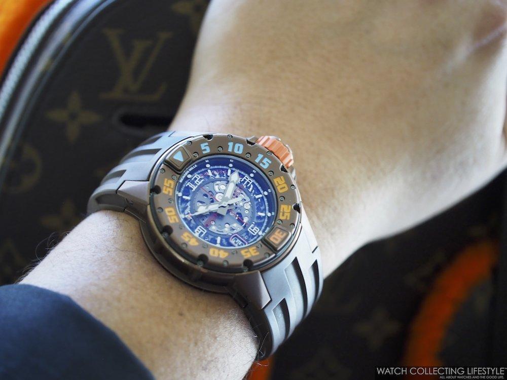 Richard Mille RM 028 Brown PVD Titanium Wrist Shot 2
