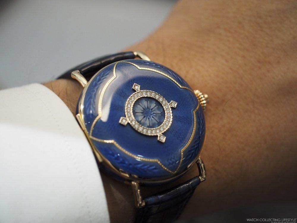 H. Moser & Cie. Heritage Tourbillon Wrist Shot