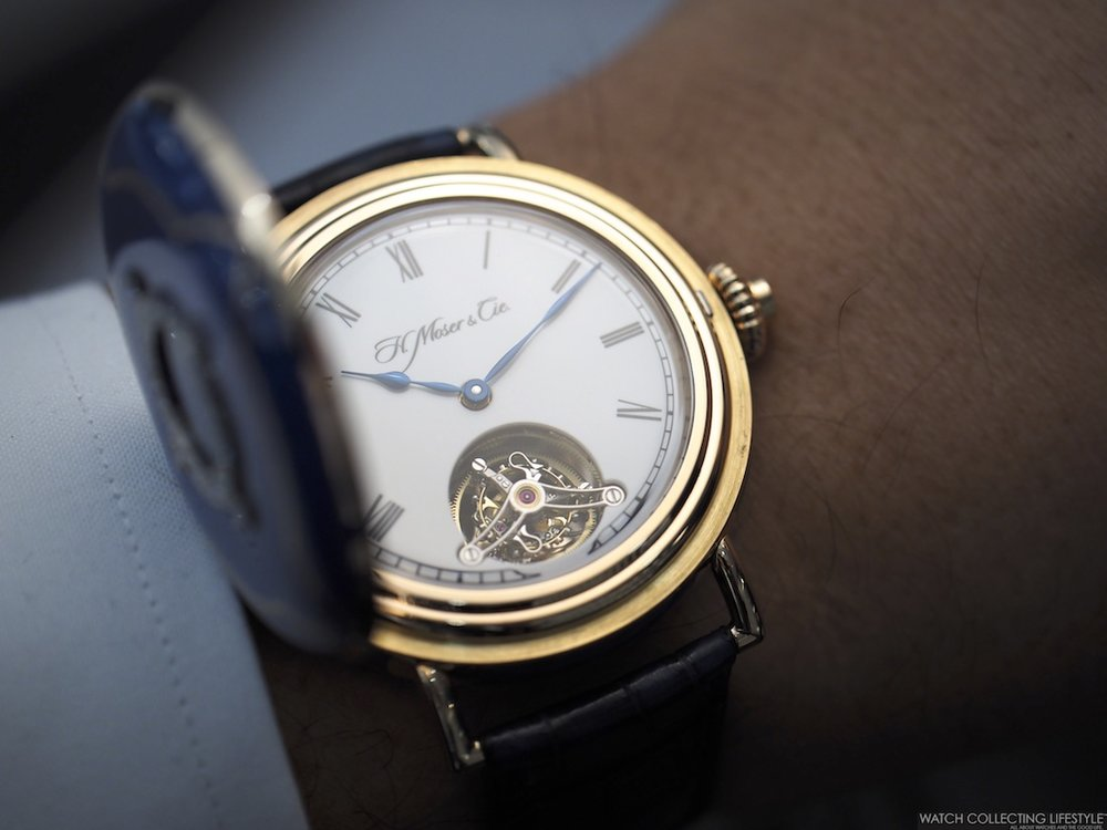 H. Moser & Cie. Heritage Tourbillon Wrist Shot 2