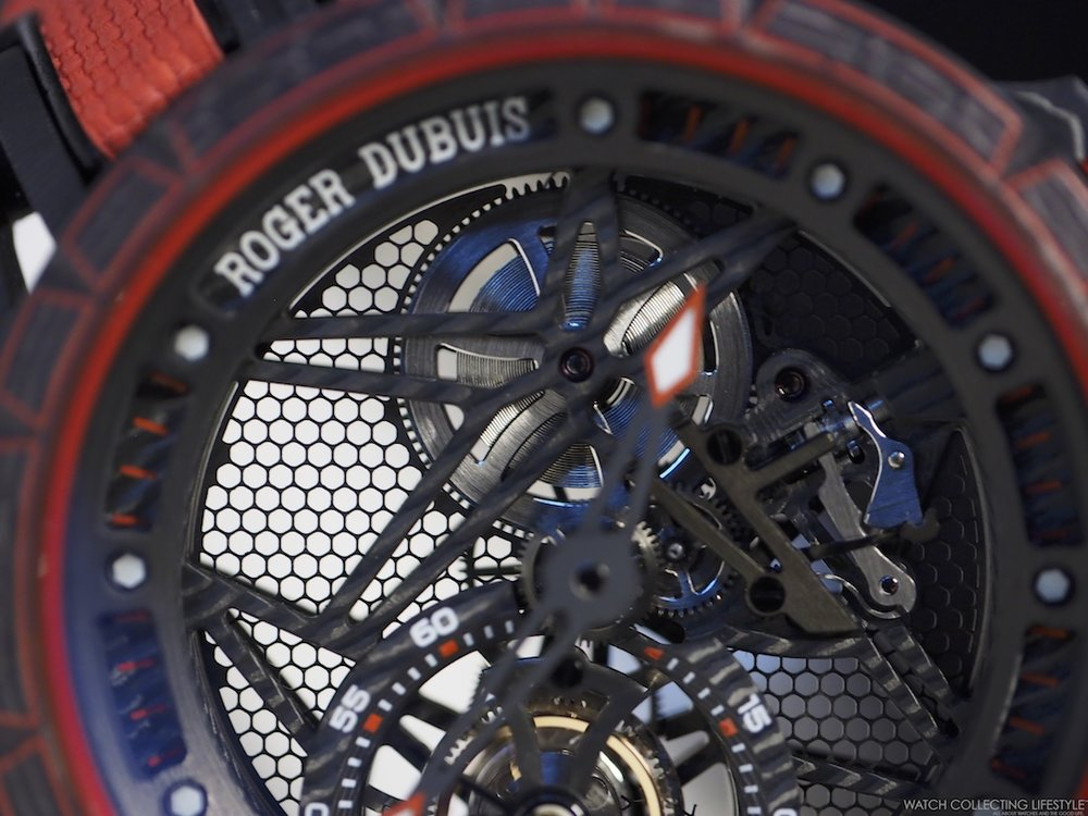 Roger Dubuis Excalibur Spider Carbon Skeleton Flying Tourbillon Mainspring