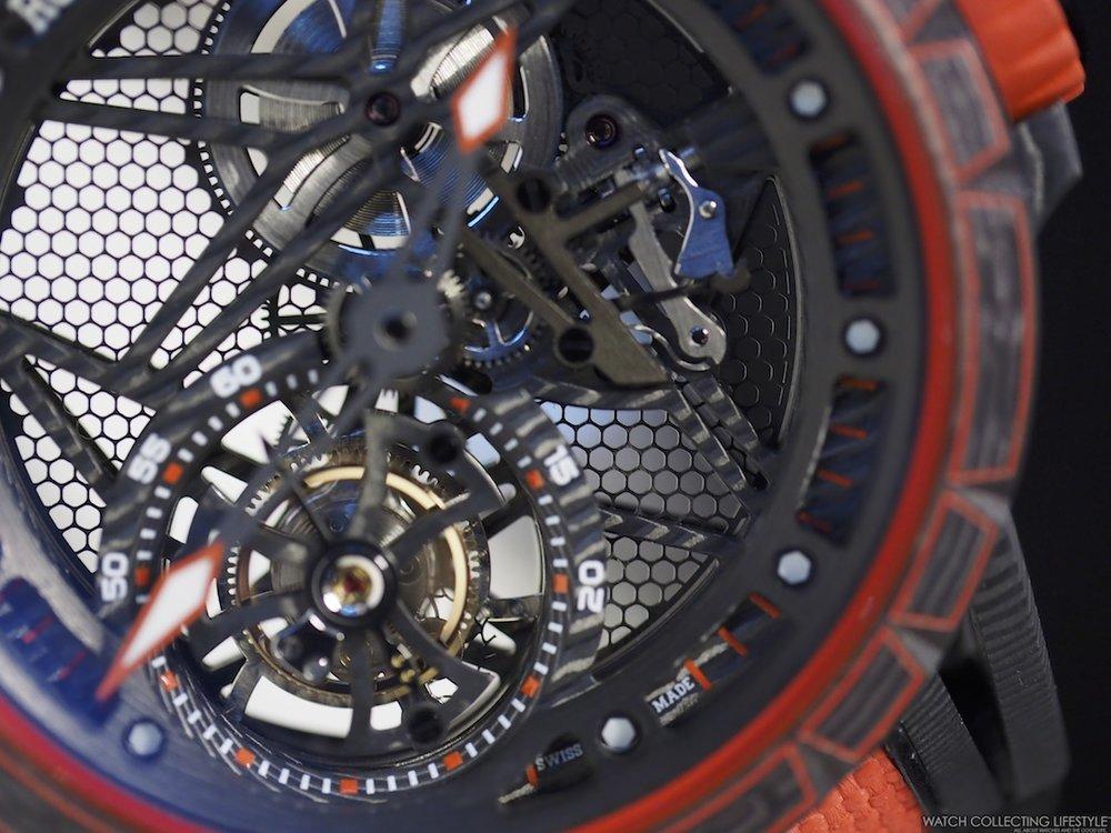 Roger Dubuis Excalibur Spider Carbon Skeleton Flying Tourbillon Dial
