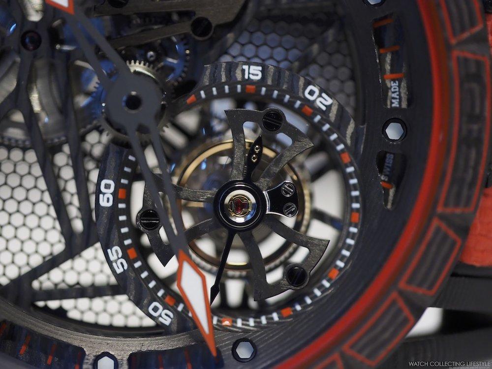 Roger Dubuis Excalibur Spider Carbon Skeleton Automatic Tourbillon Macro