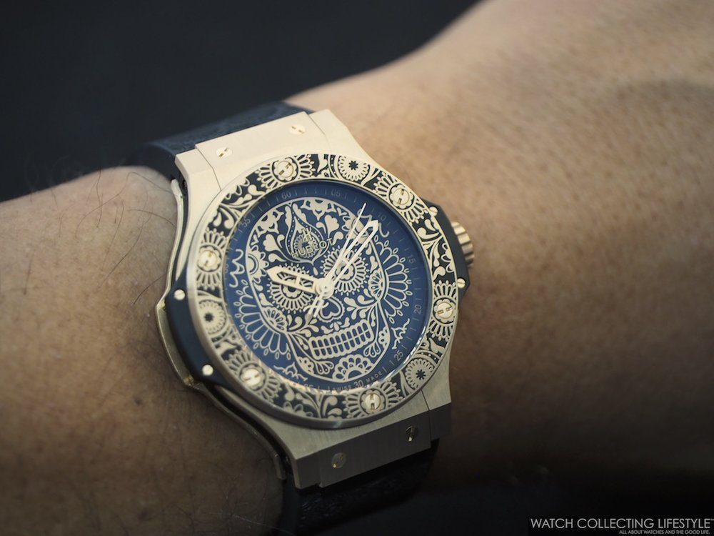 Hublot Big Bang Calaveras Patrias Wrist Shot
